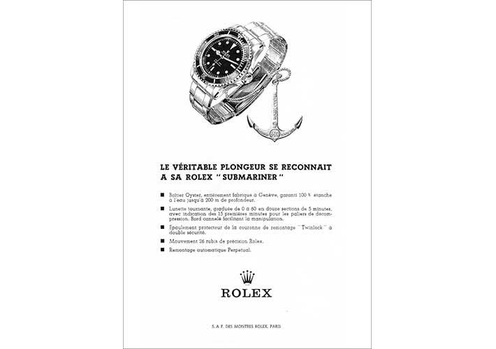 rolex submariner publicite advertising