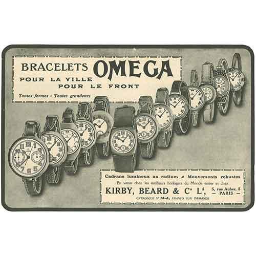1915 Oméga passe de la poche au poignet
